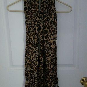 Apt 9 Leopard scarf fringe